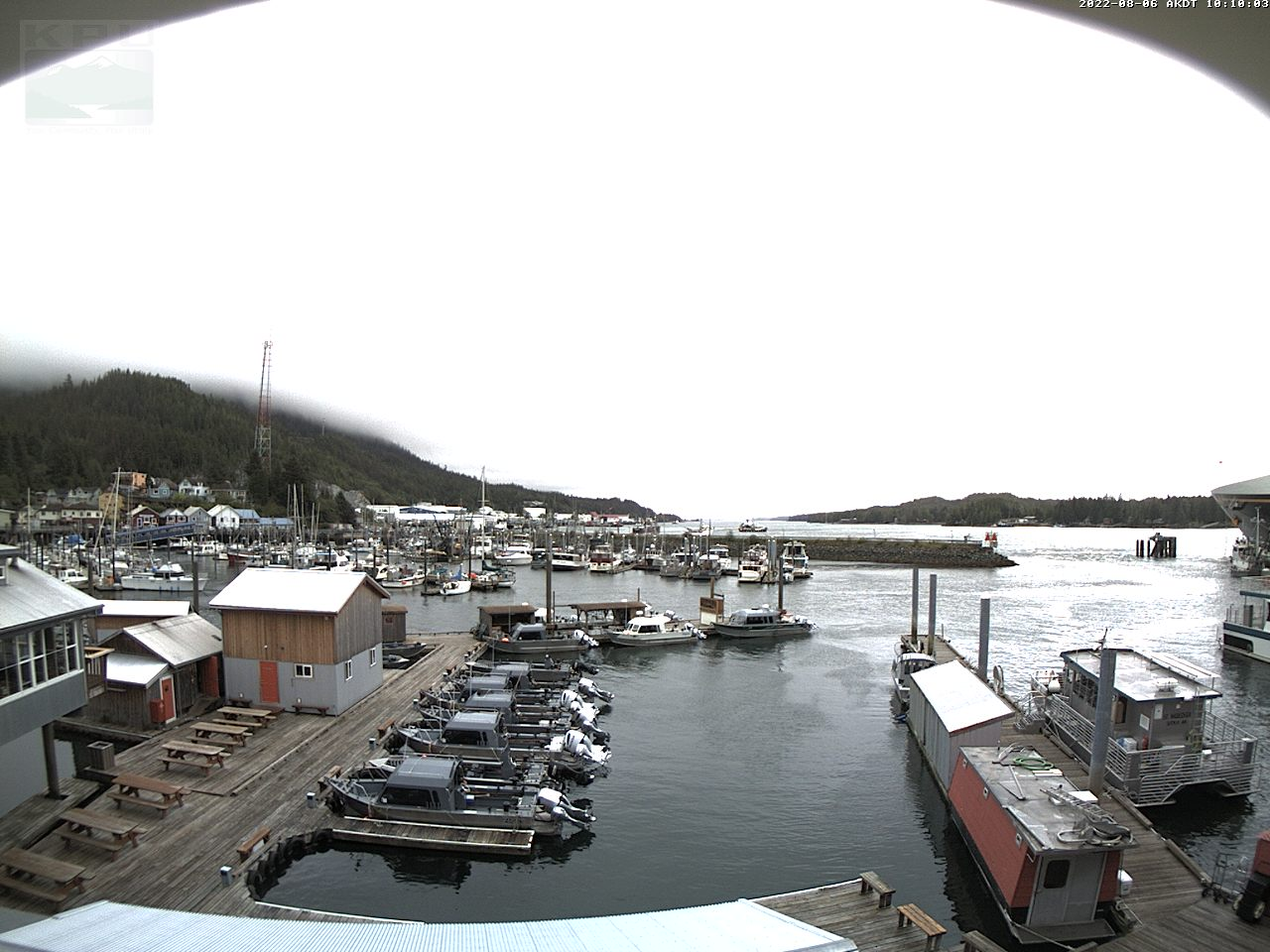 Ketchikan Webcam 5 looks towards the Ketchikan Airport